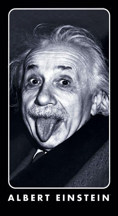 ALBERT EINSTEIN - tongue - dekorációs tapéták