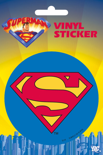 SUPERMAN - classic logo  - dekorációs tapéták