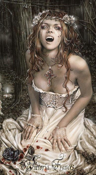 VICTORIA FRANCES - vampire girl dekorációs tapéták
