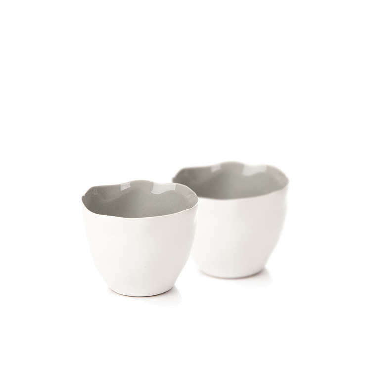 Candle Holder for Tealight Candles, 10 cm Matte White, set of 2 pcs Dekoracje wnętrz