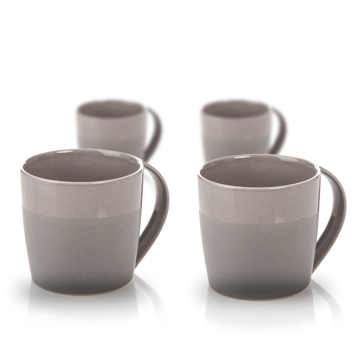 Mug Everyday, Dark Grey Glazed/Matte 300 ml, set of 4 pcs Dekoracje wnętrz