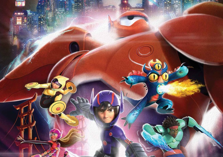 Ταπετσαρία τοιχογραφία  Disney Big Hero 6
