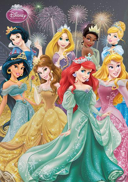 Disney Prinsesser - Group Metallic plakat