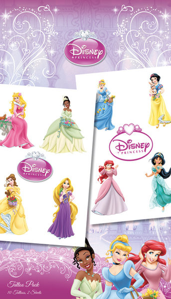 Tattoo DISNEY PRINZESSINNEN - princesses