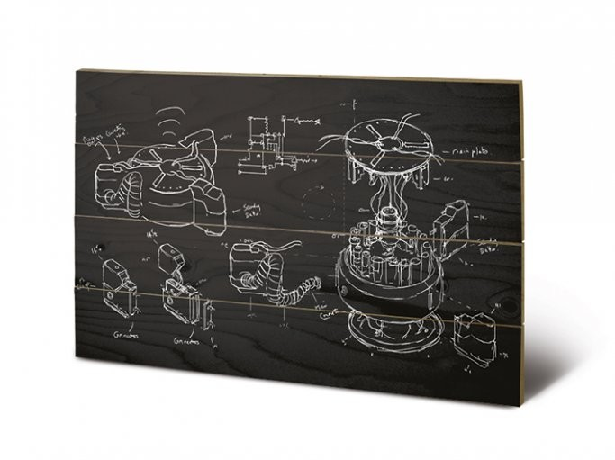 Poster su legno Doctor Who - Chalk Board