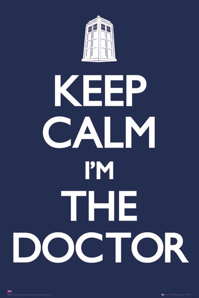 Doctor Who - Keep calm - плакат (poster)