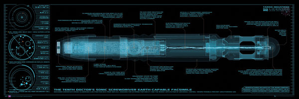 DOCTOR WHO - sonic screwdriver - плакат (poster)