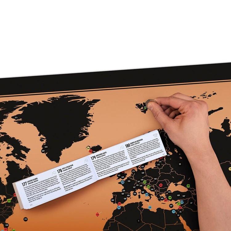 Stírací mapa  World Adventure Map