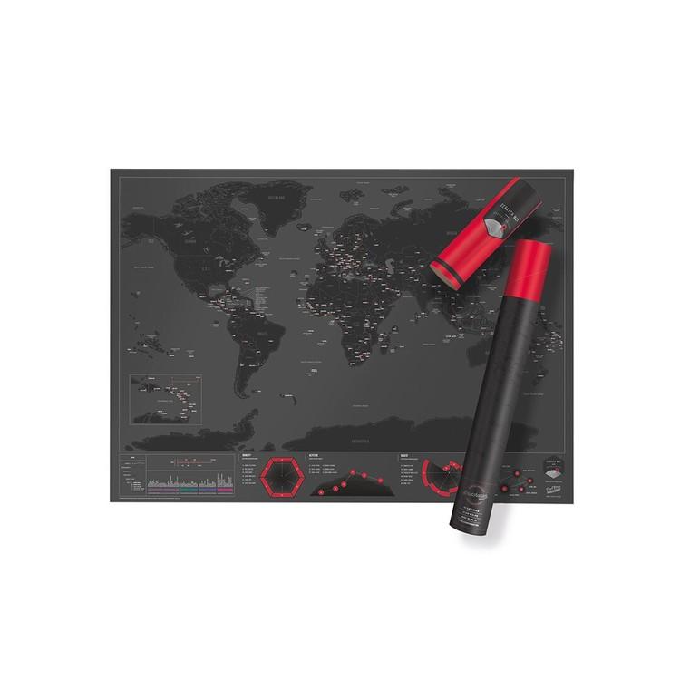 Stírací mapa World Capitals Edition