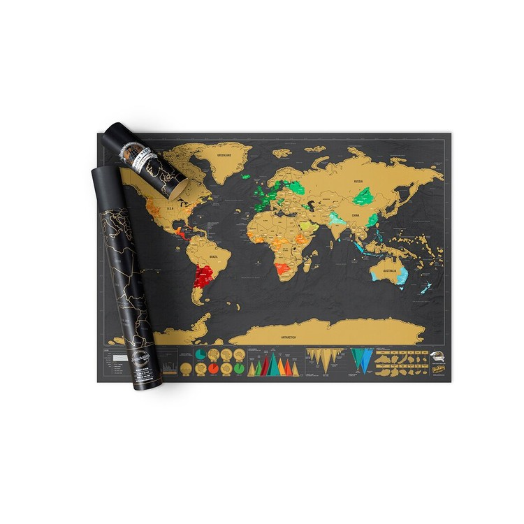 Stírací mapa World Deluxe Edition