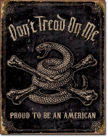 DTOM - proud american Plaque métal décorée