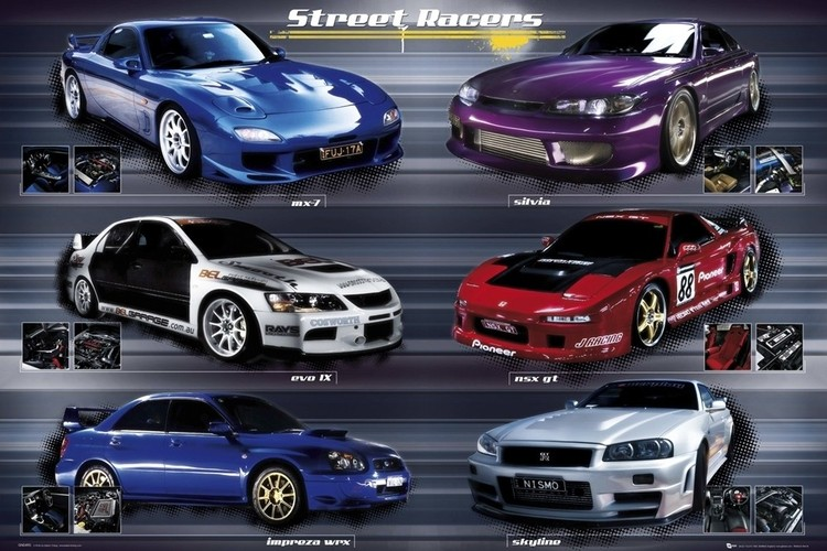 Easton - street racers - плакат (poster)