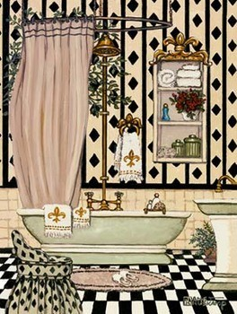 Elegant Bath II Festmény reprodukció