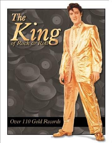 ELVIS PRESLEY- Gold Lame' Suit Metalen Wandplaat