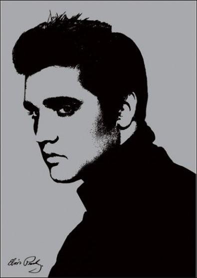 Elvis Presley - Metallic Festmény reprodukció