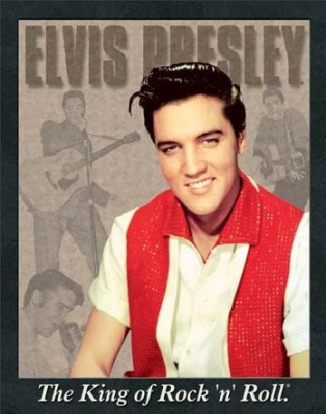 ELVIS PRESLEY - portrait Metalen Wandplaat