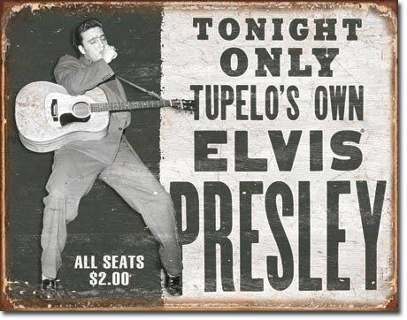 ELVIS PRESLEY - tupelo's own Metalen Wandplaat