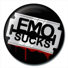 Emblemi EMO SUCKS - Razor blade