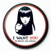Emily The Strange - i want you Insignă