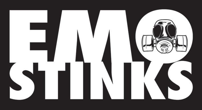 Αυτοκόλλητο βινυλίου  EMO STINKS