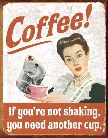 EPHEMERA - Coffee Shaking Metalen Wandplaat