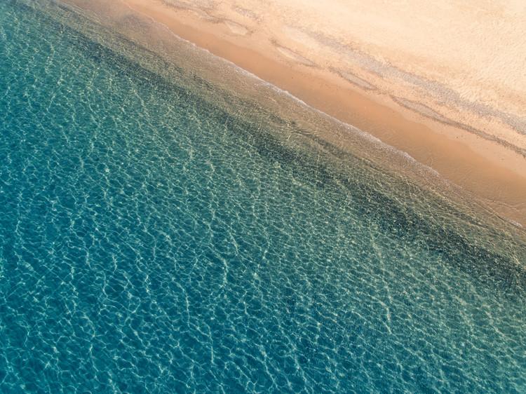 Exklusiva konstfoton Aarial mediterranean beach