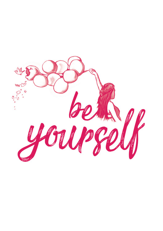 Exklusiva konstfoton Be yourself - Pink