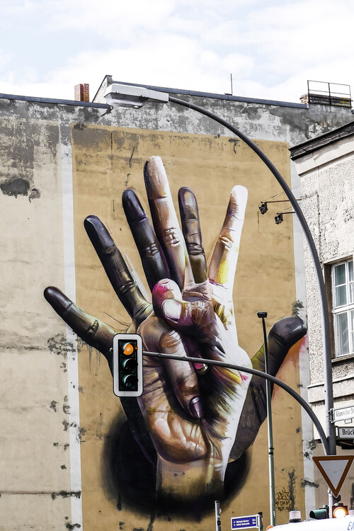 Exklusiva konstfoton Berlin grafitti art