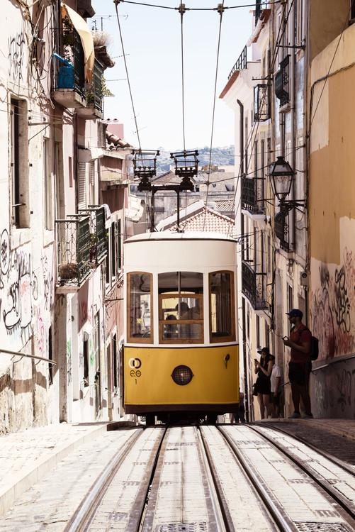 Exklusiva konstfoton Bica Yellow Tram