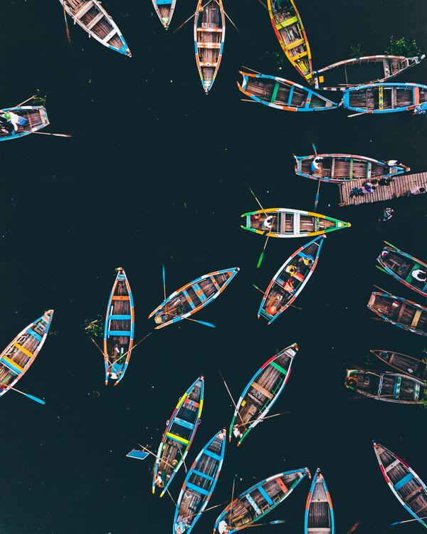 Exklusiva konstfoton Boat Rush