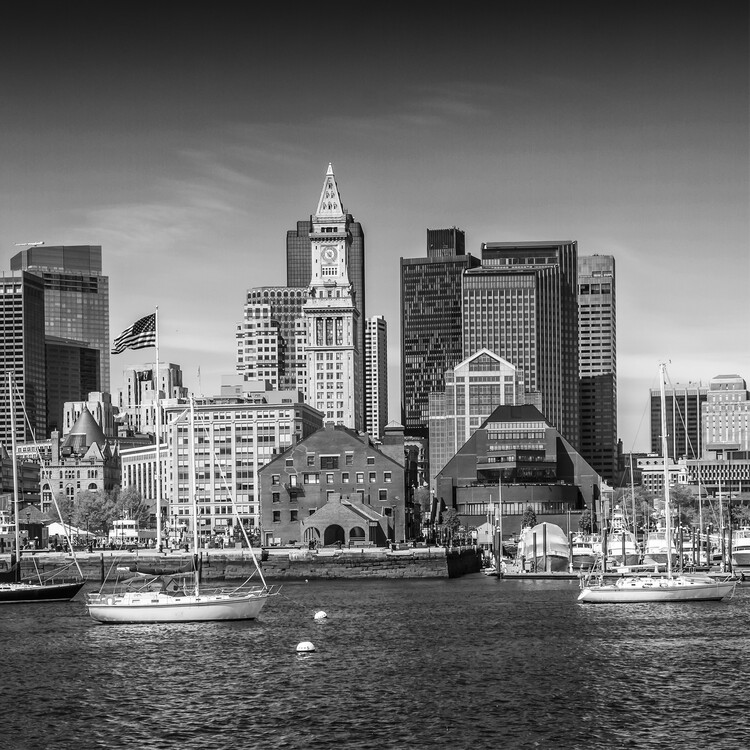 Exklusiva konstfoton Boston Skyline