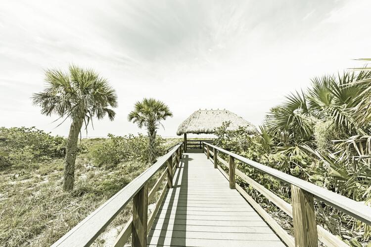 Exklusiva konstfoton Bridge to the beach | Vintage