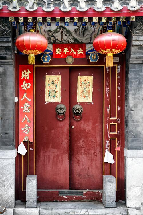 Exklusiva konstfoton China 10MKm2 Collection - Red Door