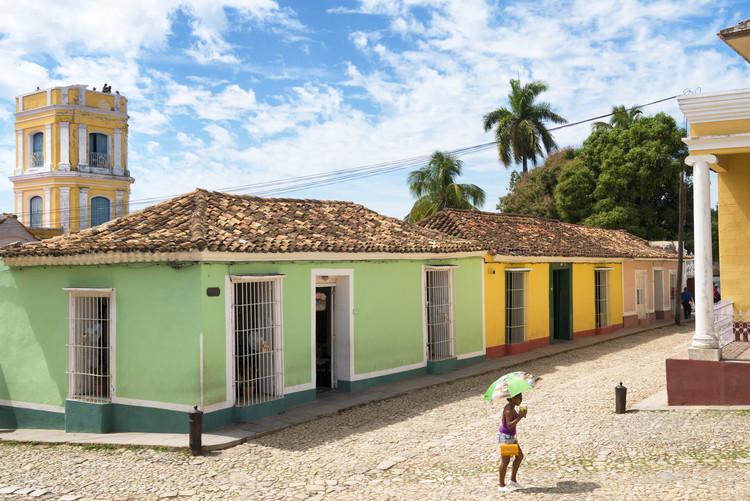 Exklusiva konstfoton Colorful Street Scene in Trinidad