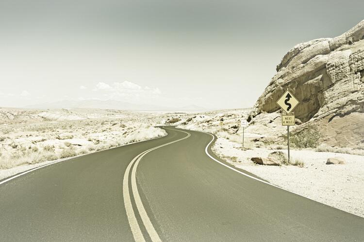 Exklusiva konstfoton Country Road USA | Vintage