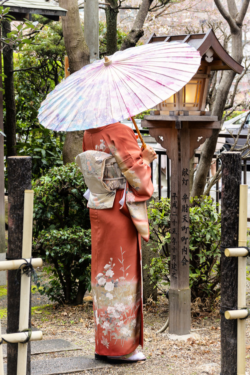 Exklusiva konstfoton Geisha