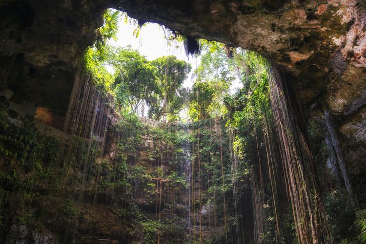 Exklusiva konstfoton Ik-Kil Cenote