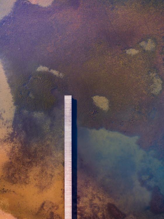Exklusiva konstfoton Long pier lake