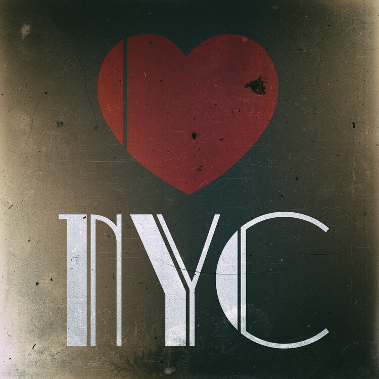 Exklusiva konstfoton Love NYC
