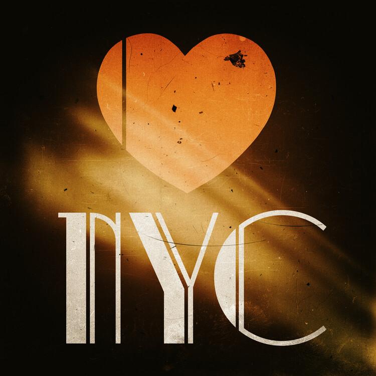 Exklusiva konstfoton NYC Love
