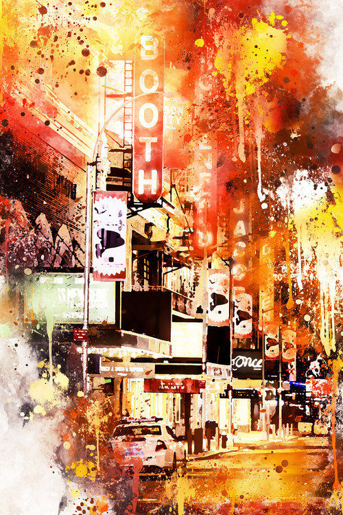 Exklusiva konstfoton NYC Watercolor 146