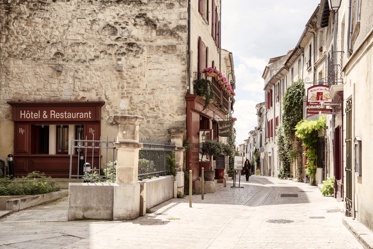 Exklusiva konstfoton Old Provencal Street in Uzès