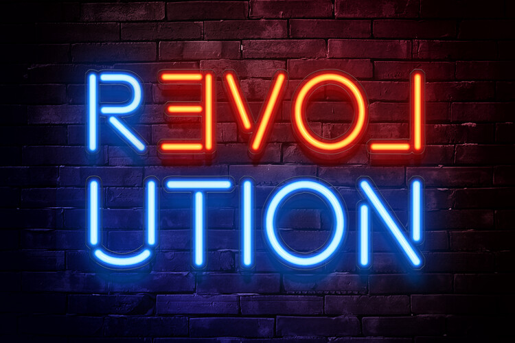 Exklusiva konstfoton Revolution