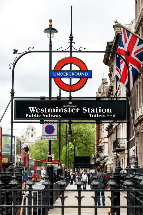 Exklusiva konstfoton Westminster Station Underground