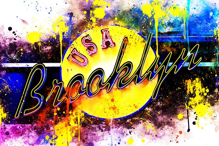Exklusiva konstfoton Yellow Brooklyn