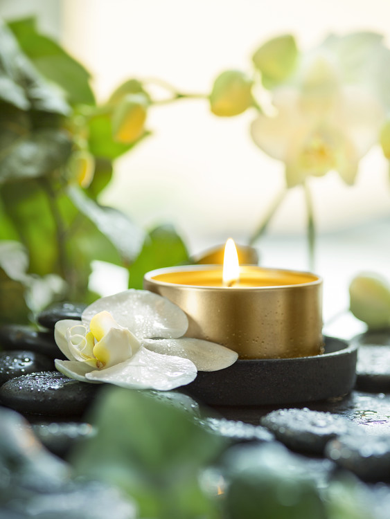 Exklusiva konstfoton Zen Orchid and Candle