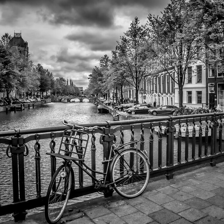 Exklusiva konstfoton AMSTERDAM Bicycle