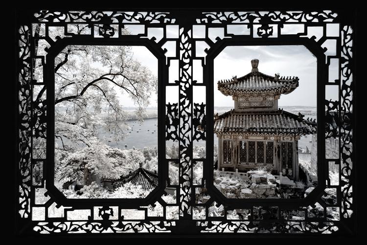 Exklusiva konstfoton Asian Window - Summer Palace