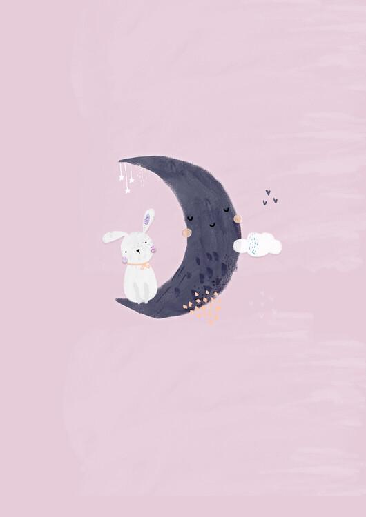 Exklusiva konstfoton Baby girl bunny