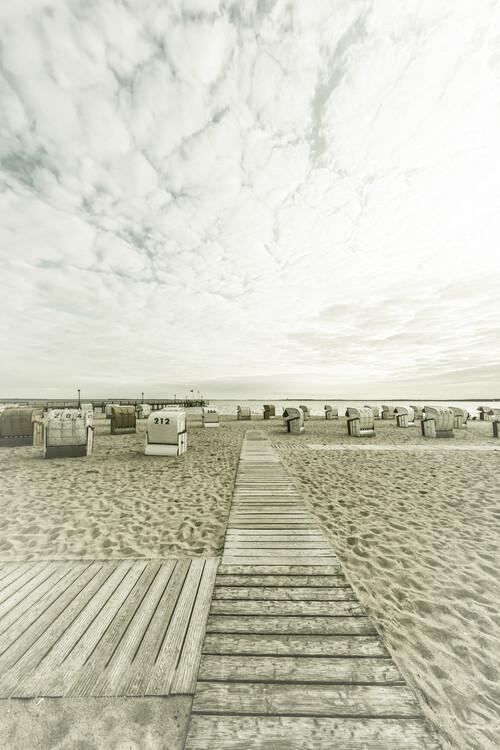 Exklusiva konstfoton BALTIC SEA Idyllic evening atmosphere   Vintage